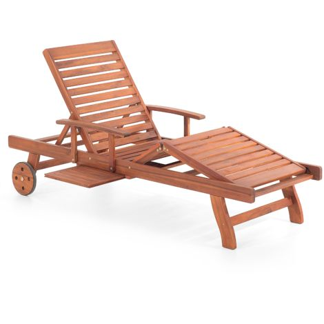 Wooden Garden Sun Lounger TOSCANA