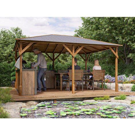 Wooden Gazebo Utopia - Heavy Duty Pressure Treated Hot Tob Garden Shelter