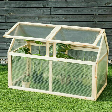"""main image of """"Wooden Greenhouse Garden Planter Box Portable Cold Frame Growhouse W/ 4 Windows"""""""