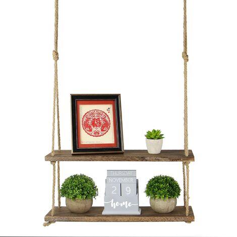 Wooden Hanging Shelf | M&W 2 Tier