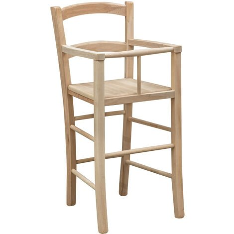 Wooden high chair for dining table restaurant pizzeria kitchen farmhouses poor art L46xPR46xH101 Cm Made In Italy