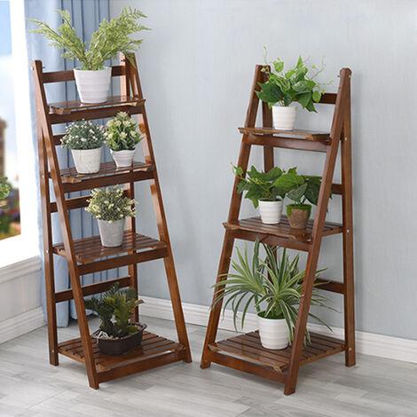 Wooden Ladder Shelf Bookshelf Plant Pot Stand Storage Display