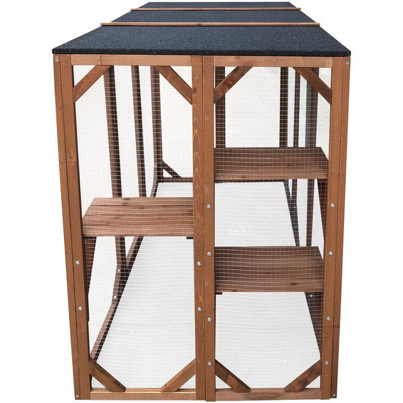 Wooden Outdoor Cat Enclosure Cat Playpen Pet Home Cat House Cat Shelter Cat Run Weatherproof Housing