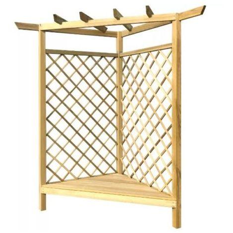 Wooden Pergola Kit Garden Structure Seat Corner Trellis Bench Patio Arbour Arch