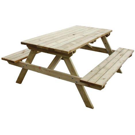 "main image of ""Wooden Picnic Bench 5ft - CG095"""