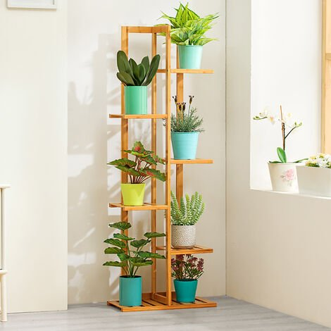 Wooden Plant Stand Flower Pots Holder Rack Shelf Stairs