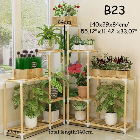 Wooden Plant Stand Shelf Garden Planter Flower Pot Stand Holder 140x29x84cm