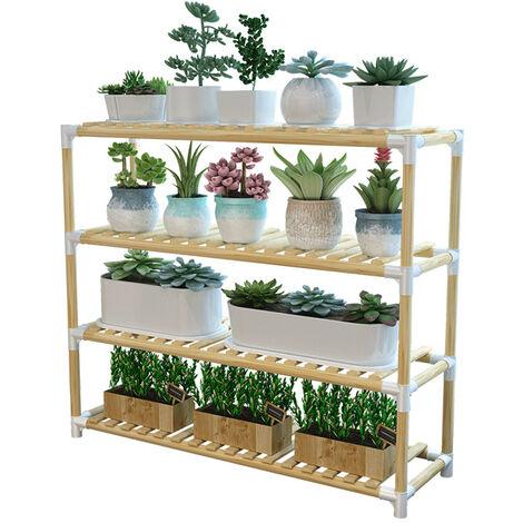 Wooden Plant Stand Shelf Garden Planter Flower Pot Stand Holder 63x29x64cm