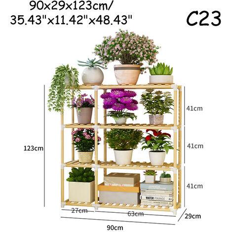 Wooden Plant Stand Shelf Garden Planter Flower Pot Stand Holder 90*29*123cm