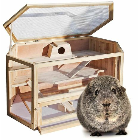 Wooden rabbit hutch 115 cm x 60 cm x 58 cm