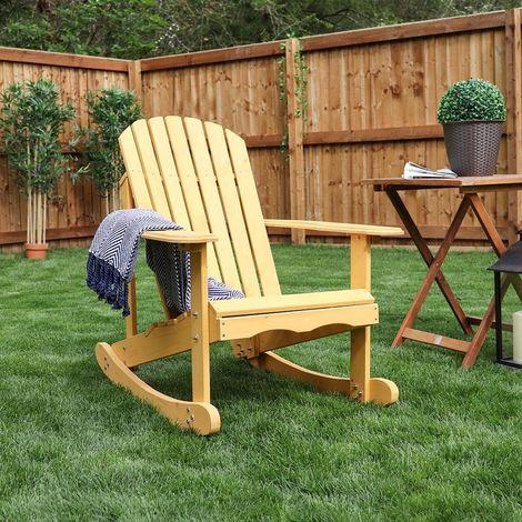 Wooden Rocking Deck Chair