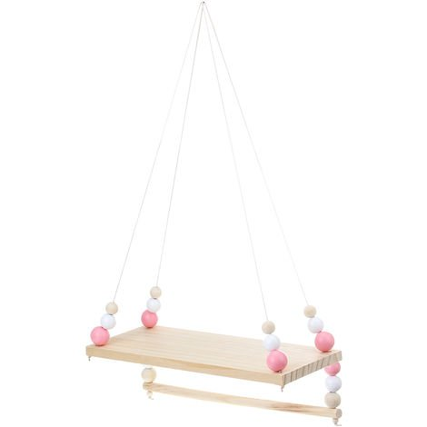 Wooden rope swing wall hanging
