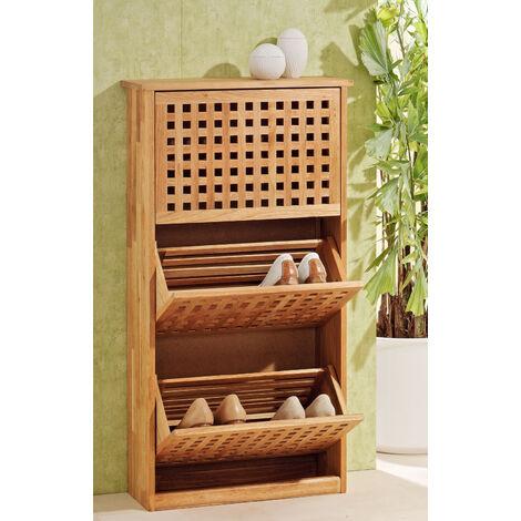 Wooden shoe cabinet 55x20x104cm