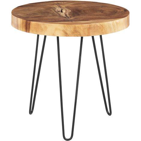 Wooden Side Table Dark Wood CARMAN