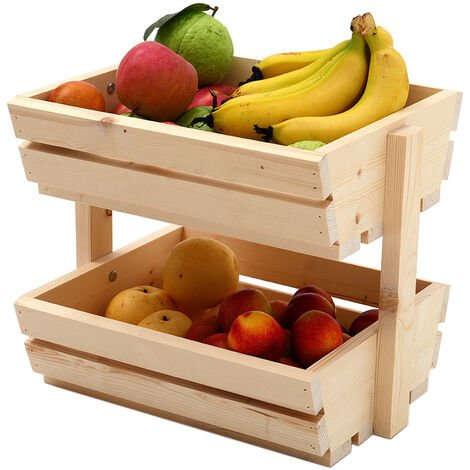 Wooden Stacking Crate Storage Box Vegetable Fruit Backet Racking Shelves