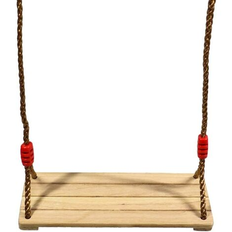 """main image of """"Wooden Swing Swing Children Adults Wooden Swing Seat with Adjustable Ropes for Tree Playground Outdoor Indoor V7110A"""""""