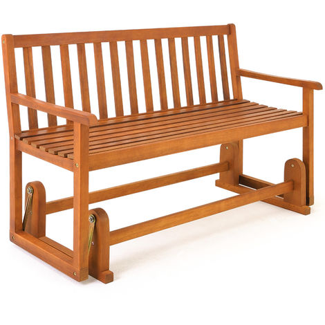Wooden Swinging Seater Bench Garden Outdoor Rocking Glider Benches made of Tropical Acacia hardwood 125x90cm