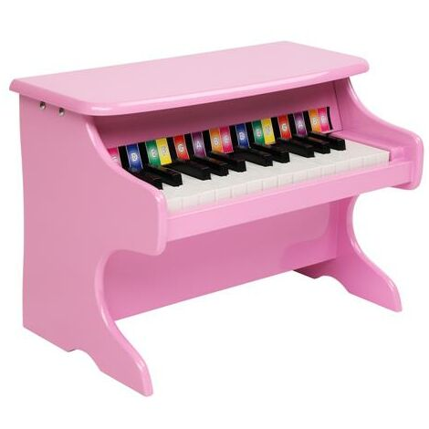 Wooden Toys: 25-key Children's Wooden Piano / Vertical (without Chair) Mechanical Sound Quality-Different color