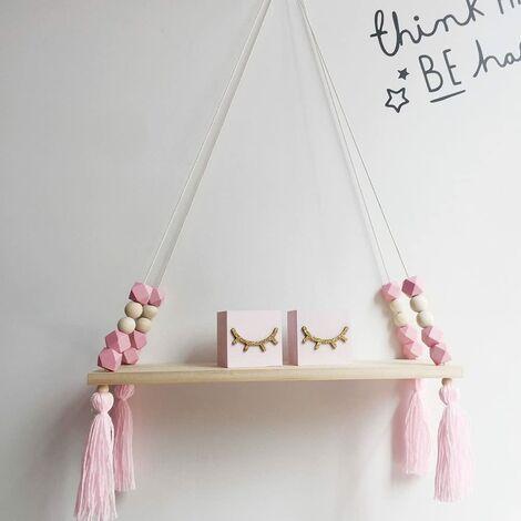 Wooden Wall Shelf for Children's Room 38 x 14 x 1.2 cm rosa