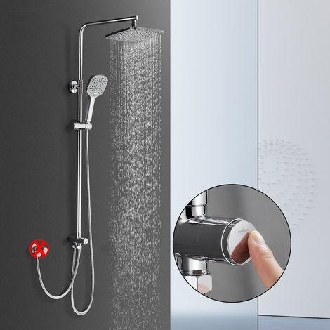 WOOHSE Duschsystem mit Regendusche ABS Duschsäule ohne Armatur