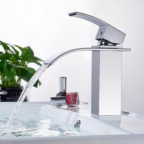 WOOHSE Élégant robinet à levier unique robinet bassin robinet évier évier robinet eau robinet robinet salle de bains mélangeur robinet évier