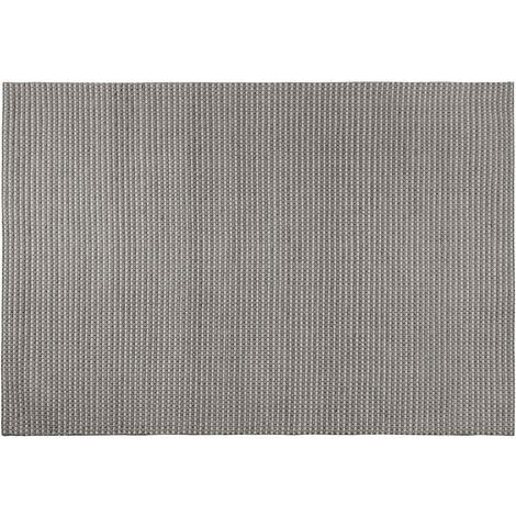 Wool Area Rug 140 x 200 cm Dark Grey KILIS