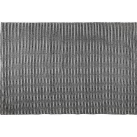 Wool Area Rug 160 x 230 cm Dark Grey KILIS