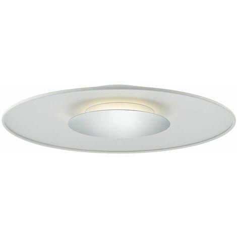 Worcester matt white and polished chrome 1-light ceiling light