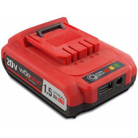 Worgrip pro tools bateria recambio 20v 1,5AH
