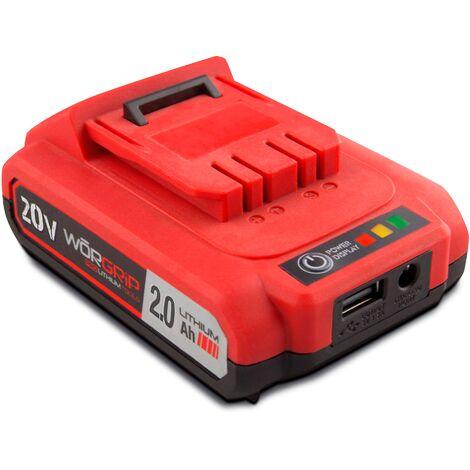 Worgrip pro tools bateria recambio 20v 2AH