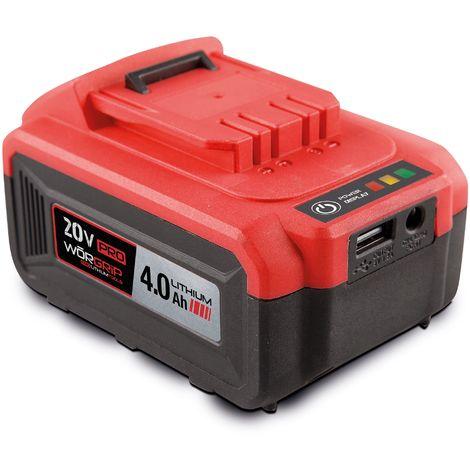 Worgrip pro tools bateria recambio 20v 4AH