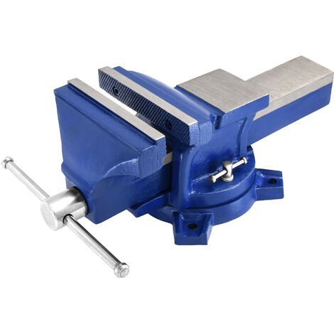 Work Bench Vice Vise Engineer Heavy Duty Cast Iron Fixed Base Jaws Workshop