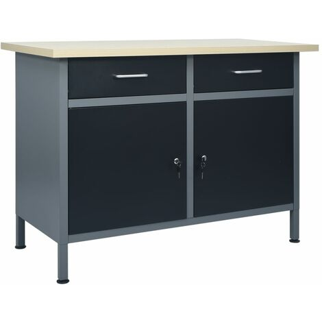 Workbench Black 120x60x85 cm Steel