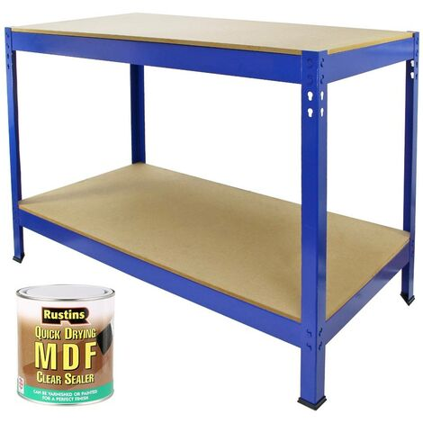 Workbench with Rustins MDF Clear Sealer