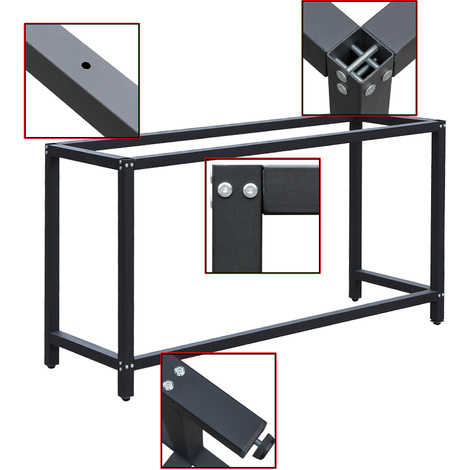 Workbench Worktable Workshop Table Desk Frame W50xL125xH80cm Garage Repairs Packing