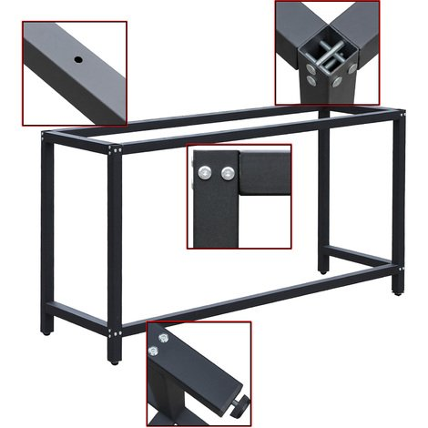 Workbench Worktable Workshop Table Desk Frame W50xL150xH80cm Garage Repairs Packing