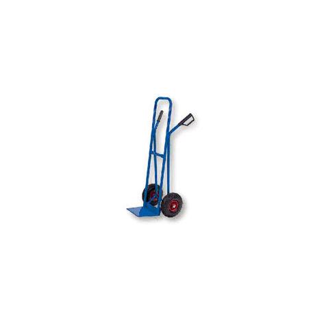 WORKMEN 8390B-250 - Carrello da trasporto con ruote in gomma gonfiabili, portata max 250 kg