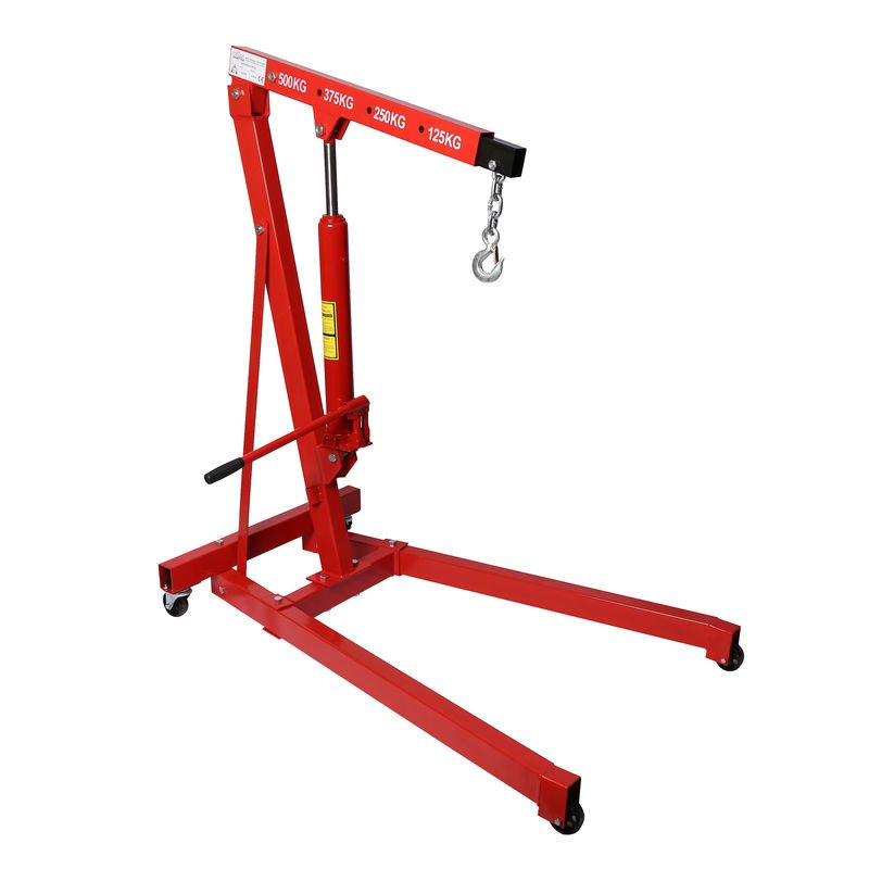 Mechanical Works Workshop Crane 500kg Lifting Arm 750//1290mm Engine Hoist for Gardening