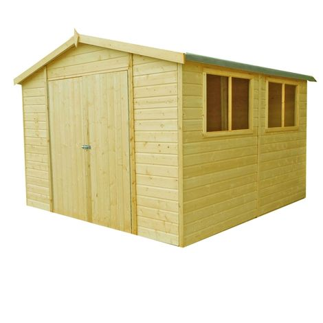 Workspace DD Tongue and Groove Garden Shed Workshop Approx 10 x 10 Feet