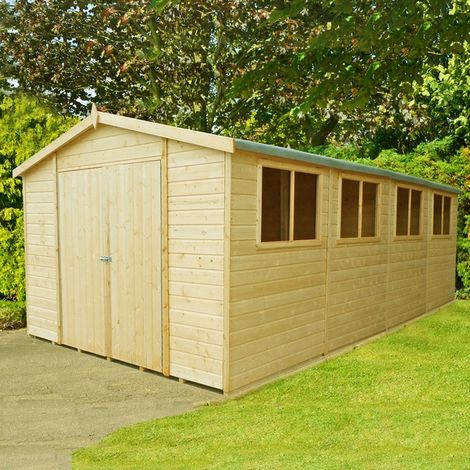 """main image of """"Workspace DD Tongue and Groove Garden Shed Workshop Approx 10 x 20 Feet"""""""