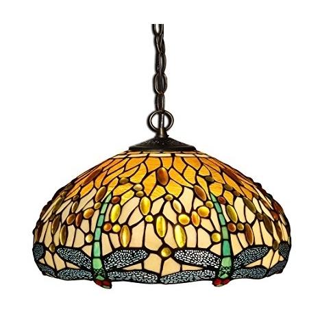 Style Art Tiffany Libellule90x41x41 World Tw60280 Lustre Cm Lampes H2EIY9WD