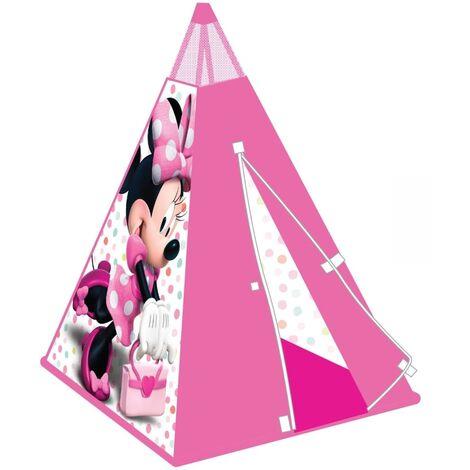 """main image of """"Worlds Apart Tente de Jeu Tipi Château Cabane Maison Jouet Enfants Tente de Jeu d'Intérieur Maison Salon Rose/Naturel"""""""