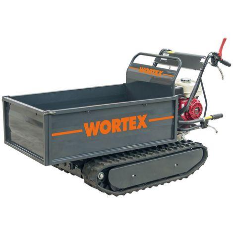 WORTEX MOTOCARRIOLA CINGOLATA SFH500 MOTORE BENZINA HONDA 6,5 HP 500 KG RIBALTABILE