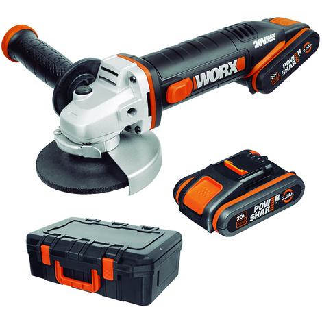WORX - Amoladora 115mm 20V 2.0Ah 2bat. - WX800