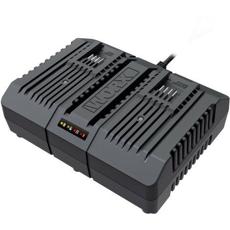 WORX - Cargador doble rápido 20V (2x2.0Ah - 1h)