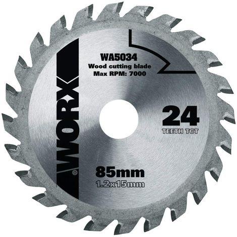 Worx - Disco de corte madera Worxsaw 85mm 24T