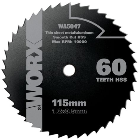 WORX - Disco Multimaterial Ø115mm 60T para WorxSaw XL WX427/WX429