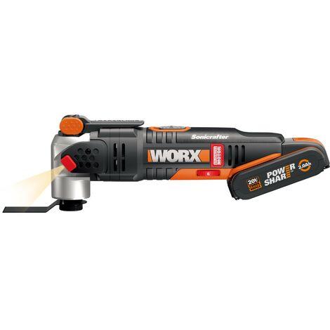 WORX - Multiherramienta Sonicrafter Brushless (sin escobillas) Hyperlock 20V 2.0Ah - WX693