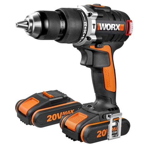 WORX - Taladro Percutor Brushless (sin escobillas) 20V 2.0Ah 2 bat. - WX373