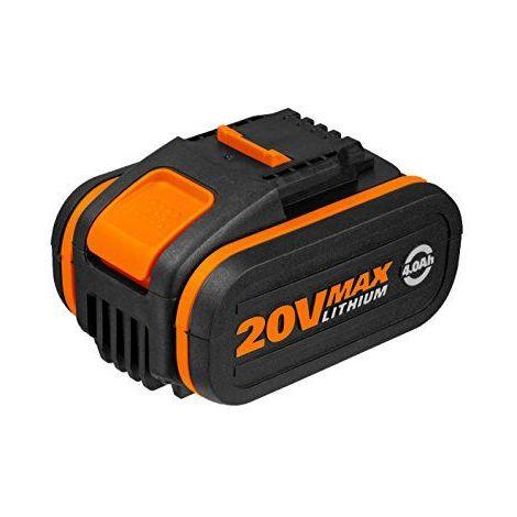 WORX WA3553 4.0Ah batterie au lithium de 20 V avec la plate-forme Powershare